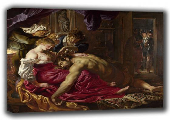 Rubens, Peter Paul: Samson and Delilah. Fine Art Canvas. Sizes: A3/A2/A1 (00551)